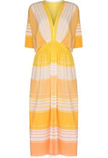Lemlem Vestido Eshal Com Listras - Amarelo