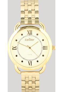 Relógio Analógico Condor Feminino - Co2035Mpq4D Dourado - Único