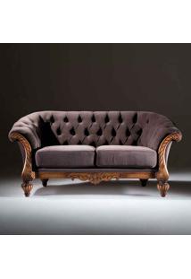 Sofá Luxo 2 Lugares Madeira Maciça Design Clássico Avi Móveis