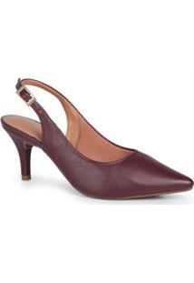 Sapato Scarpin Vizzano Slingback Vinho Vinho