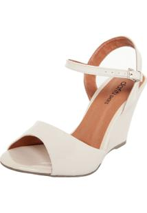 Sandália Dafiti Shoes Anabela Off-White