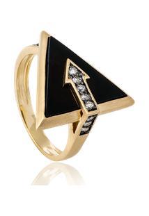 Anel Lance Triangulo Ouro Amarelo - 17