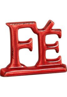 Escultura Decorativa Fé Vermelha 12X15,5 Cm