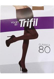 Meia Calça Trifil Opaca Fio 80 Feminina - Feminino-Marrom Claro