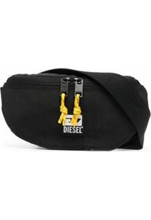 Diesel Pochete Com Placa De Logo - Preto