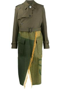 Loewe Layered Trench Coat - Verde