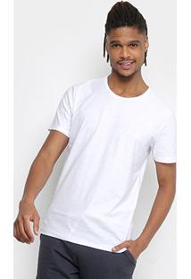 Camiseta Kohmar Flamê Masculina - Masculino-Branco