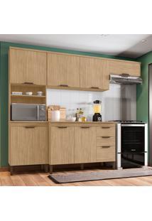 Cozinha Compacta Milena 7 Pt 3 Gv Marrom Claro