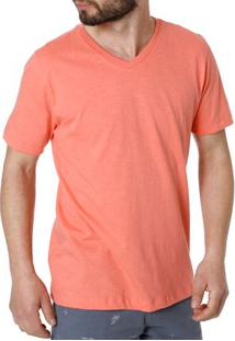 Camiseta Manga Curta Masculina Rovitex Salmão