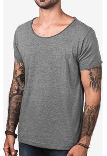 Camiseta Eco Preto Gola Canoa 103095