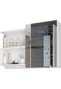 Espelheira Suspensa Para Banheiro Lis 54X80Cm Branco