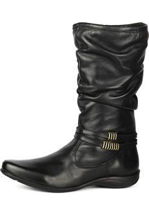 Bota Cano Alto Enrugado Sw Shoes Preto