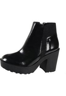 Bota Ankle Boot Loucos & Santos Box Soft Preta