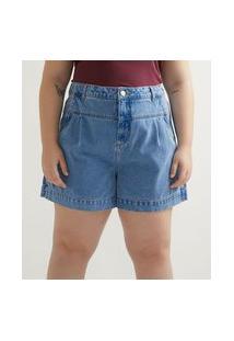 Short Baggy Jeans Com Pala Enviesada Curve & Plus Size