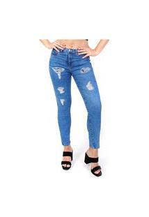 Calca Jeans Lorsa Skinny Sky Bleach Medio