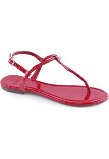 Sandália La Femme Flat Colors Feminina - Feminino-Vermelho