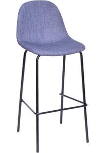 Banqueta Charla- Jeans Azul & Preta- 107X39,5X43Cm