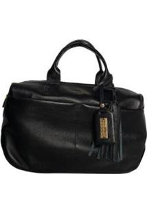 Bolsa Handbag Couro House Of Caju Pingente Feminina - Feminino-Preto