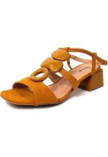Sandália Damannu Shoes Anitta Feminina - Feminino-Amarelo