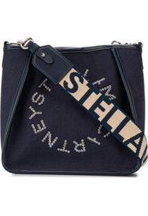 Stella Mccartney Eyelet Logo Shoulder Bag - Azul