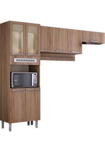 Cozinha Compacta Cacau 8 Pt Carvalho