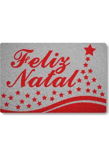 Tapete Capacho Feliz Natal - Prata