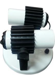 Luminária Spot Ampla, 02 Lâmpadas, Branca