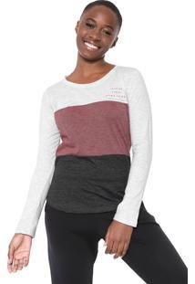 Camiseta Hang Loose Little Stripe Cinza/Vinho