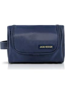Necessaire Com Alça Lateral - Jacki Design - Masculino-Azul