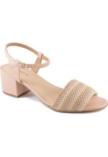 Sandália Tressê Salto Bloco Número Grande Sapato Show 250198