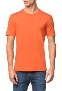 Camiseta Slim Careca Flame Calvin Klein - Laranja - Pp
