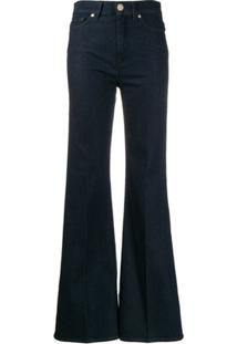 7 For All Mankind Five-Pocket Flared Trousers - Azul
