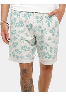 Bermuda Triton Sarja Estampada Tinturada Reta Masculina - Masculino
