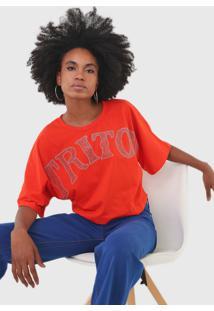 Camiseta Triton Aplicações Laranja