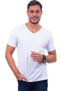 Camiseta Masculina Branca Lisa - G
