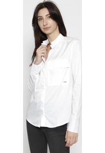 Camisa Lisa Com Bolso - Brancacalvin Klein