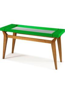 Aparador Crystal Com Espelho Cor Amendoa Com Verde - 29285 - Sun House