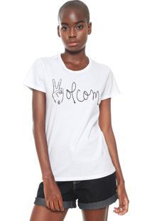 Camiseta Volcom Peaced Branca