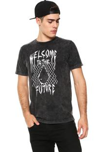 Camiseta Volcom Stone Scraper Grafite