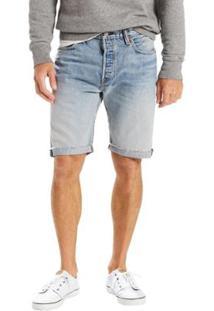 Bermuda Jeans Levis 501 Original Cut Off Pride Media Masculina - Masculino-Azul