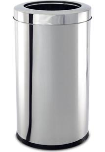 Lixeira Inox Com Aro 21,2 Litros