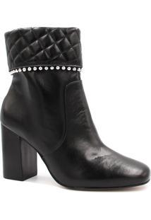 Bota Cano Curto Zariff Shoes Ankle Boot Zíper Preto