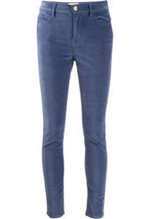 Frame Calça Jeans Skinny Com Cintura Alta - Azul