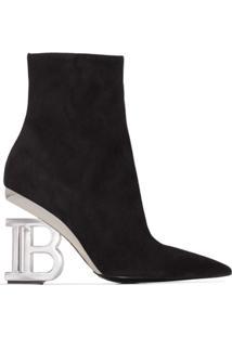 Balmain Ankle Boot Nicole 95Mm - Preto
