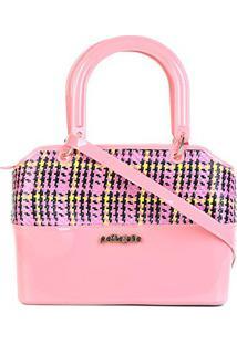 Bolsa Petite Jolie Handbag Feminina - Feminino-Rosa+Amarelo