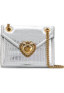 Dolce & Gabbana Bolsa Tiracolo 'Devotion' Média - Cinza