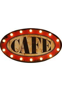 Quadro Luminoso Decorativo Retrô De Parede Lightbox Café