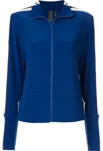 Norma Kamali Side Stripe Jacket - Azul