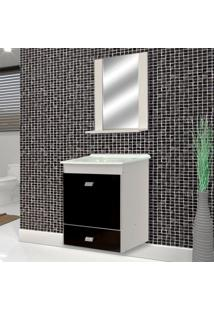 Conjunto De Banheiro Belmonte Branco E Preto