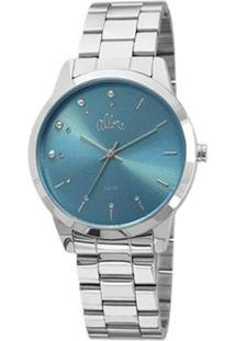Kit Relógio Feminino Allora Analógico Al2035Fbu/K3 - Unissex-Prata
